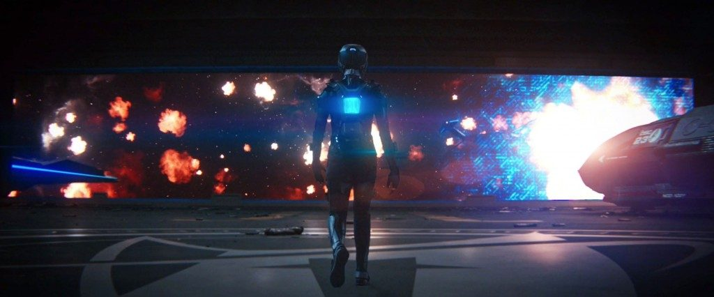Michael on her way to exit the shuttle bay. - STDP 040 - Star Trek Discovery S2E14 (17:44)