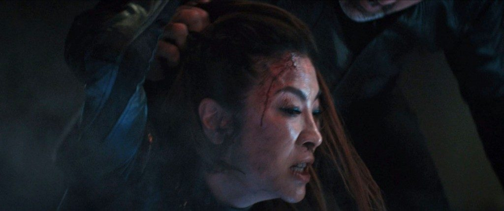 STDP 041 - Star Trek Discovery S2E14 (44:13) - An unequal fight, Leland having short hair and Georgiou's long hair.