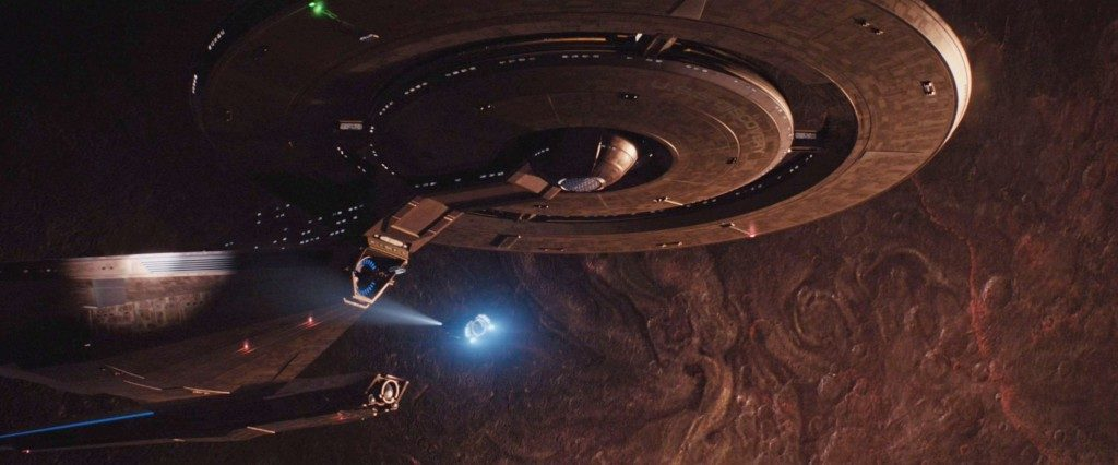 Cornwell's shuttle approaches the USS Discovery. - STDP 034 - Star Trek Discovery S2E9 (01:54)