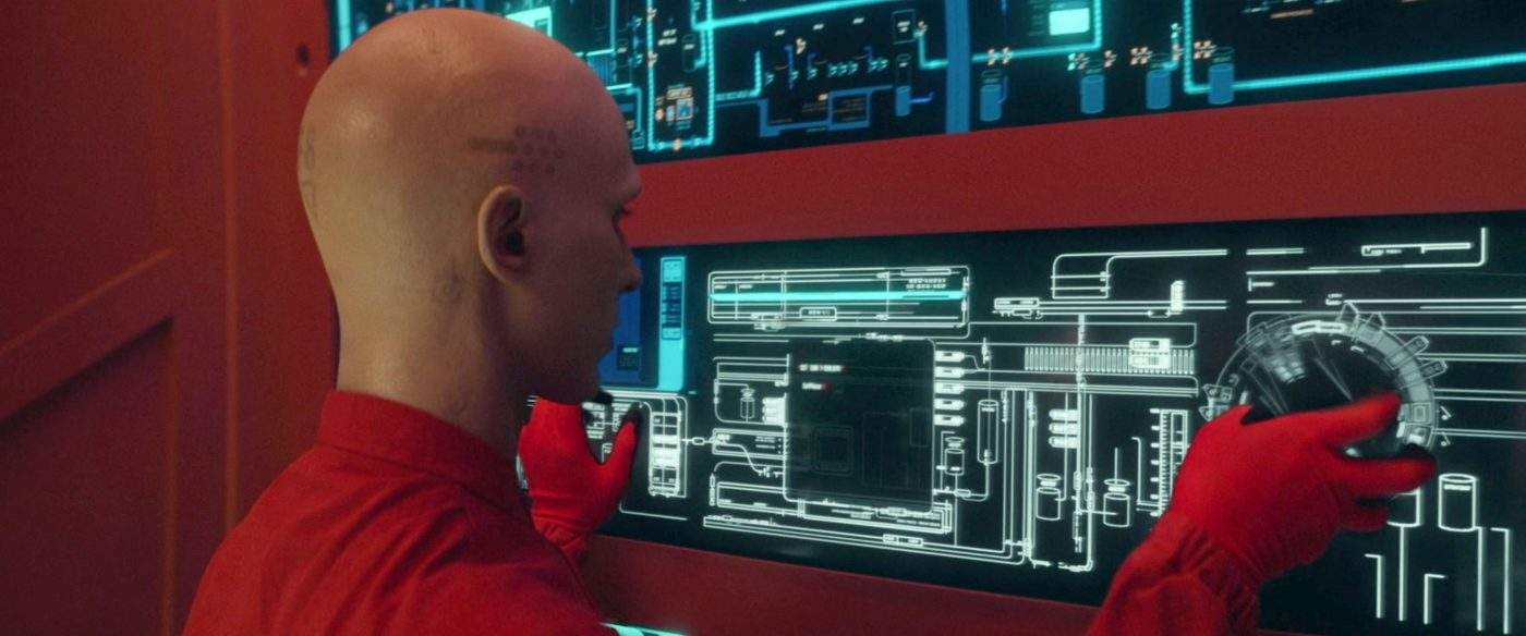 Rogue Synth F8 takes control of the Tri-Hy station. - STPC 006 - Star Trek: Picard S1E2 - Maps and Legends (04:15)