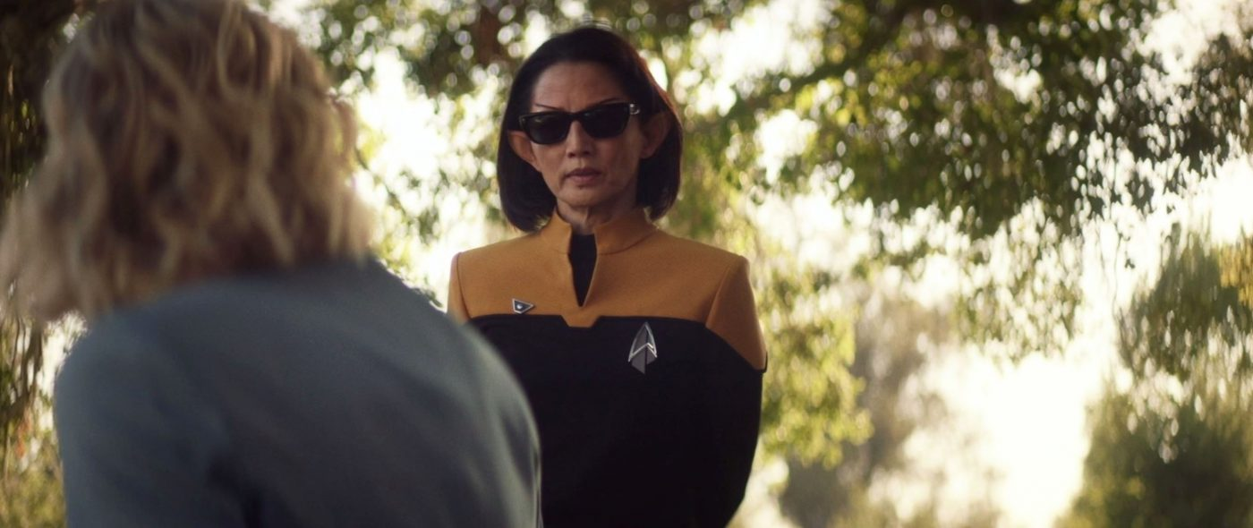 Doctor Jurati, I'm Commodore Oh, director of Starfleet Security. - STPC 007 - S1E3 The End is the Beginning (16:22)