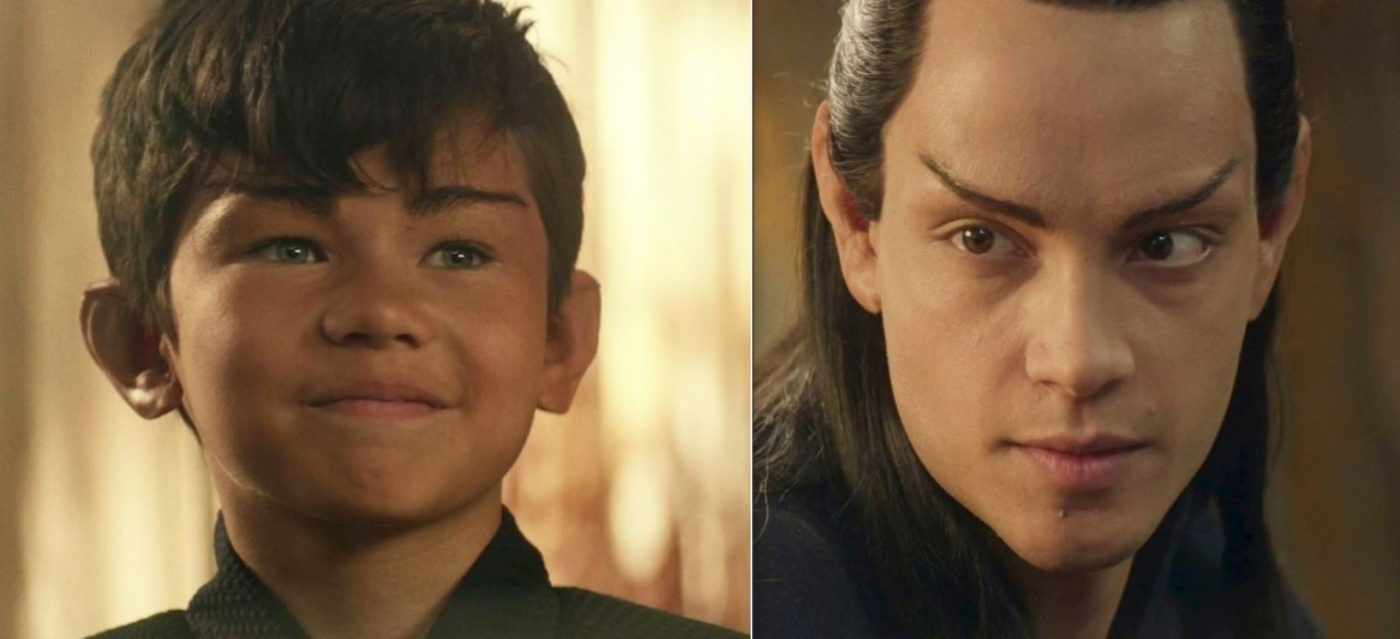 Notice young Elnor's blue eyes vs. his brown eyes as an adult. - STPC 008 - Star Trek: Picard - S1E4 Absolute Candor (4:25 & 29:43)