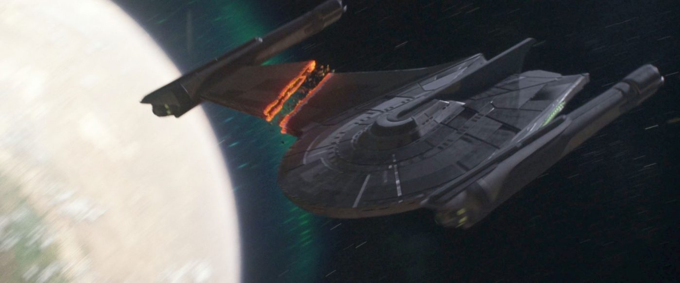 The old Bird of Prey loses a wing. - STPC 008 - Star Trek: Picard - S1E4 Absolute Candor (42:08)