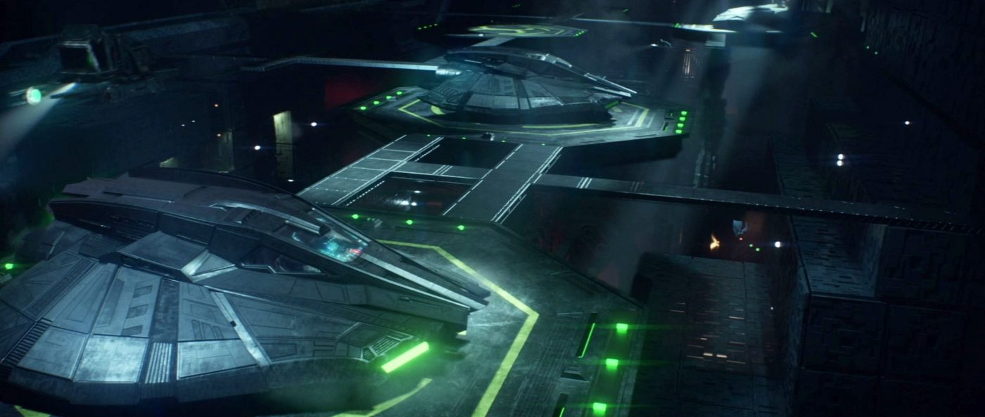 "Narek's ship leaving The Artifact's hangar bay. - STPC 011 - Star Trek: Picard - S1E7 (07:19) - One of Fred's ""Visual Yeses"""