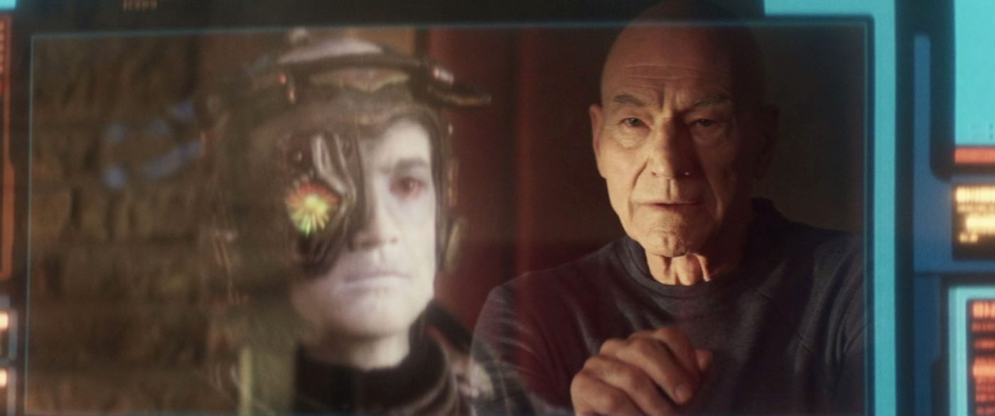 Picard looking at an old picture of Hugh. - STPC 010 - Star Trek: Picard - S1E6 (08:22)
