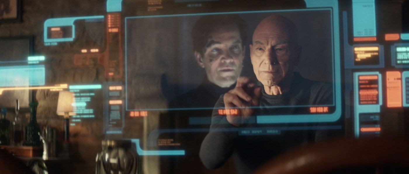 Picard finding Hugh in a computer search. - STPC 010 - Star Trek: Picard - S1E6 - The Impossible Box (08:30)